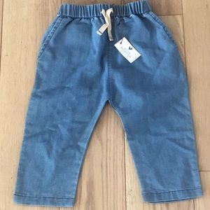 New! Blue Rooster denim draw string pants